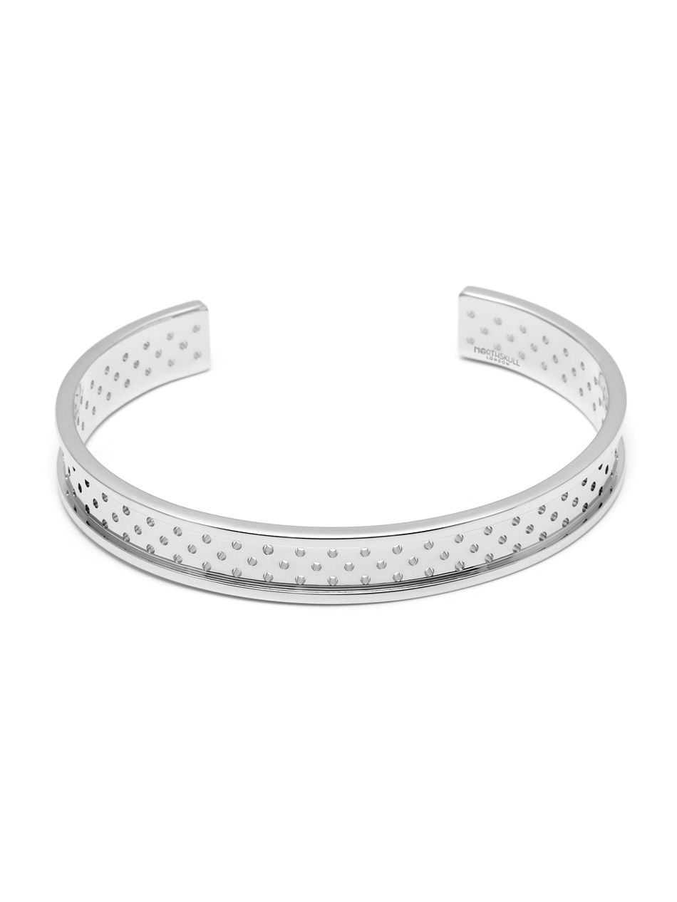 Perforated cuff in silver gifts pinterest bangle and designers