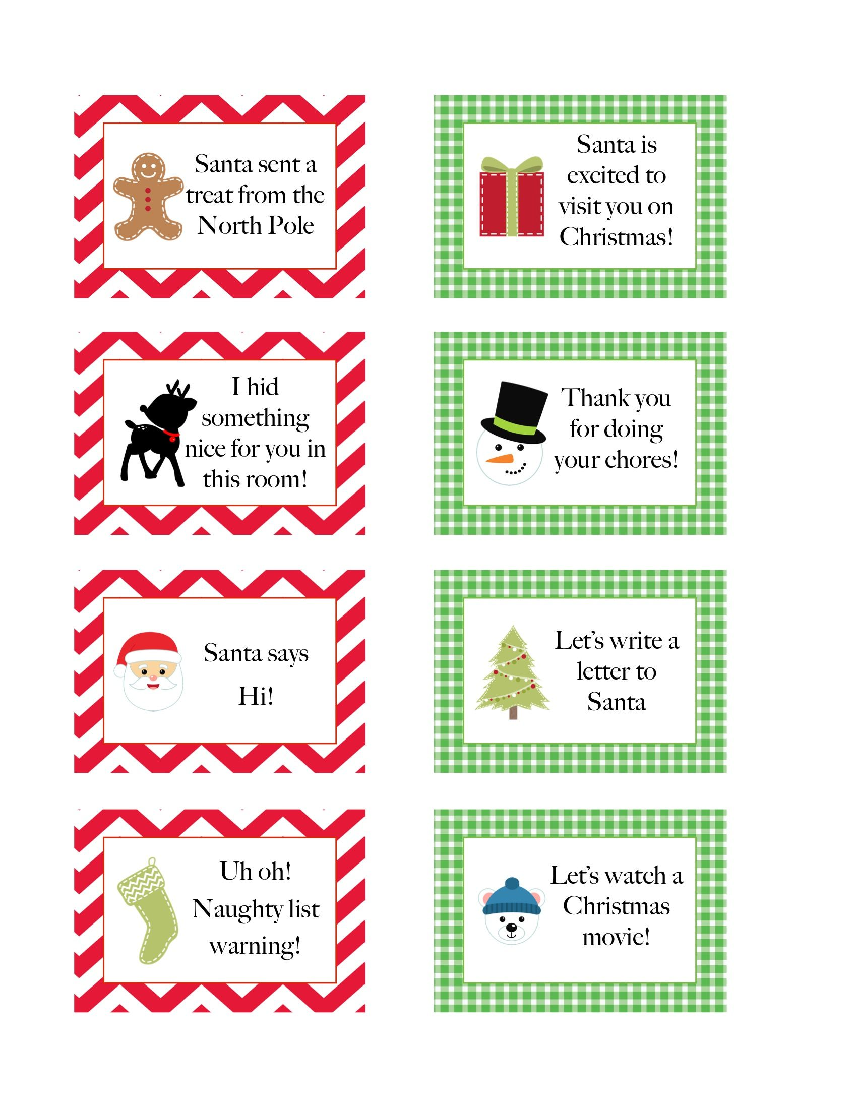 Elf On The Shelf Free Printables