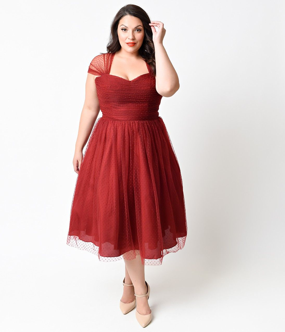 Unique vintage plus size burgundy swiss dot garden state cocktail unique vintage plus size burgundy swiss dot garden state cocktail dress ombrellifo Gallery