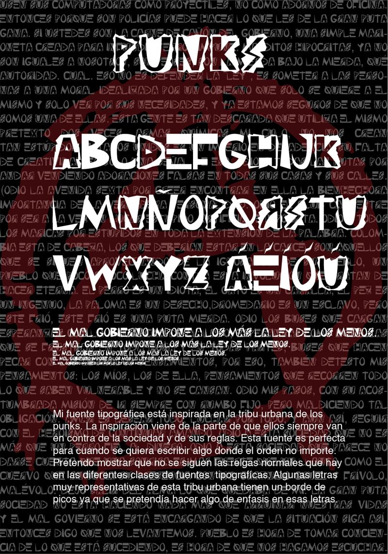 Punks Font | dafont com | 50s Punk Typefaces | Punk, Fonts