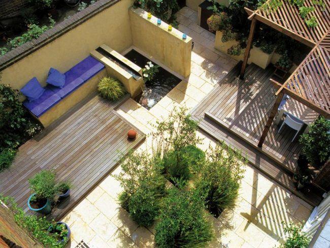 kleinen-garten-anlegen-terrasse-pflanzen-modern | garten | pinterest, Garten Ideen