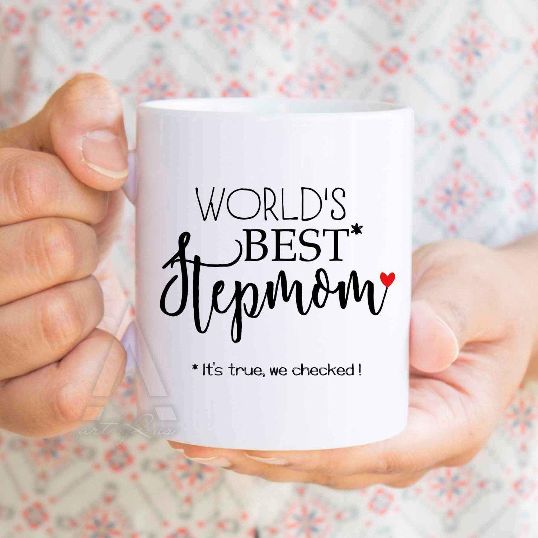 Mothers Day Gift Stepmom Worlds Best Funny Coffee Mugs Birthday For Stepmother Mug MU381 By ArtRuss On Etsy