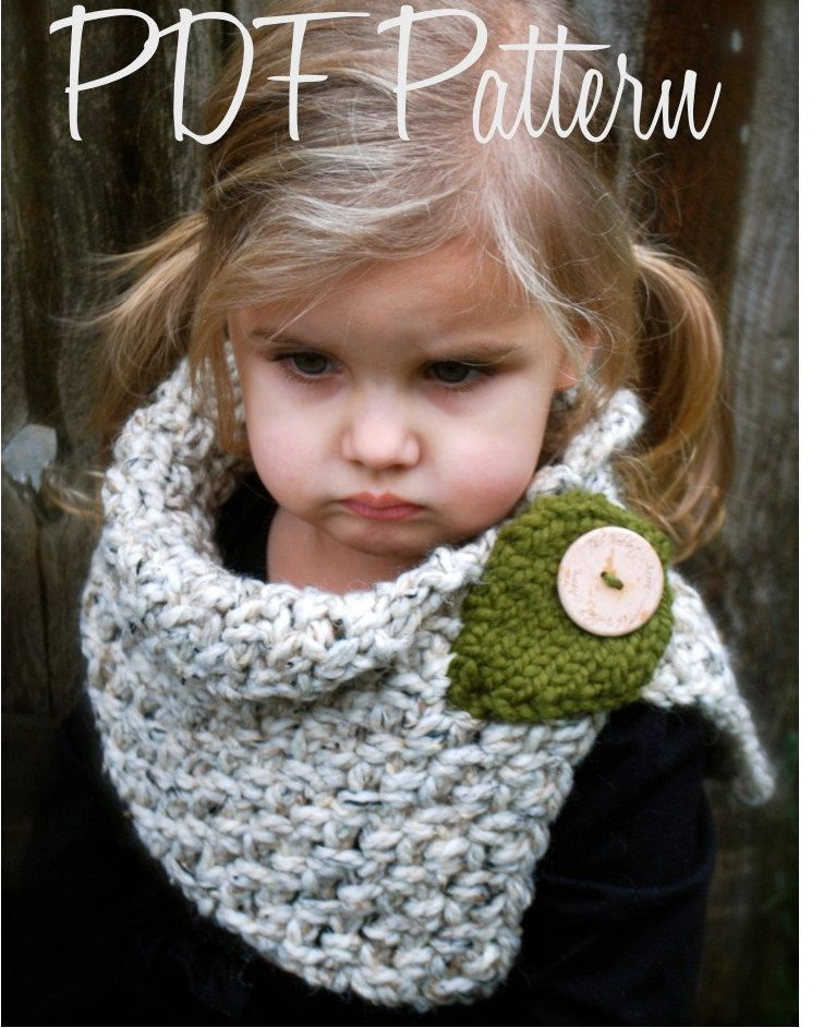 Crochet PATTERN-The Autumn Cowl (Child, Adult sizes)   Muster ...