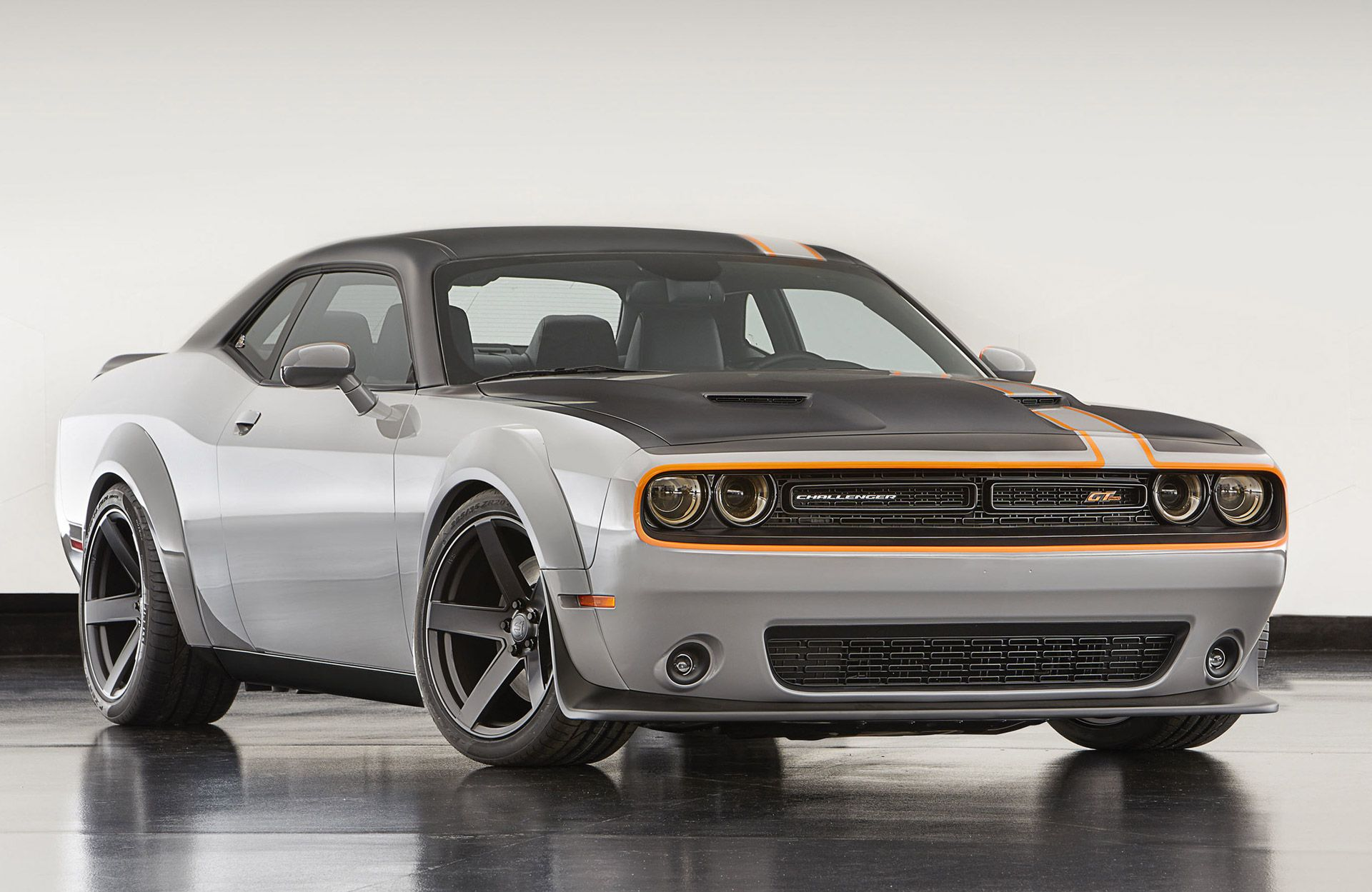 Among an avalanche of mopar concepts the dodge challenger gt awd concept is one of the company s headline acts at the 2015 sema show in las vegas