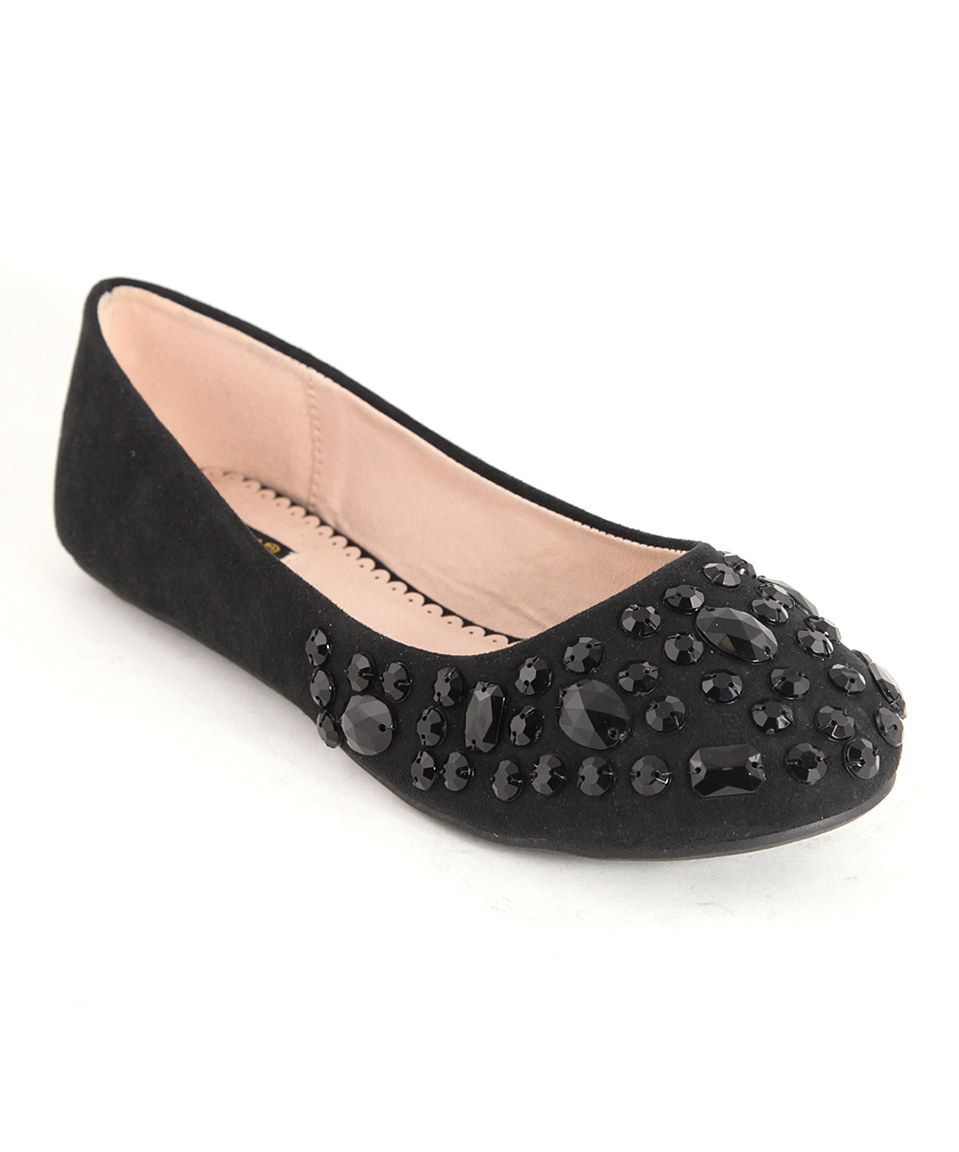 This Bella Marie Black Bling Flat by Bella Marie is perfect! #zulilyfinds