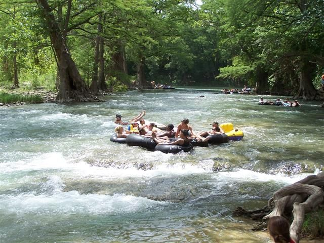 Tubing Down The Guadalupe River Plane Train Or