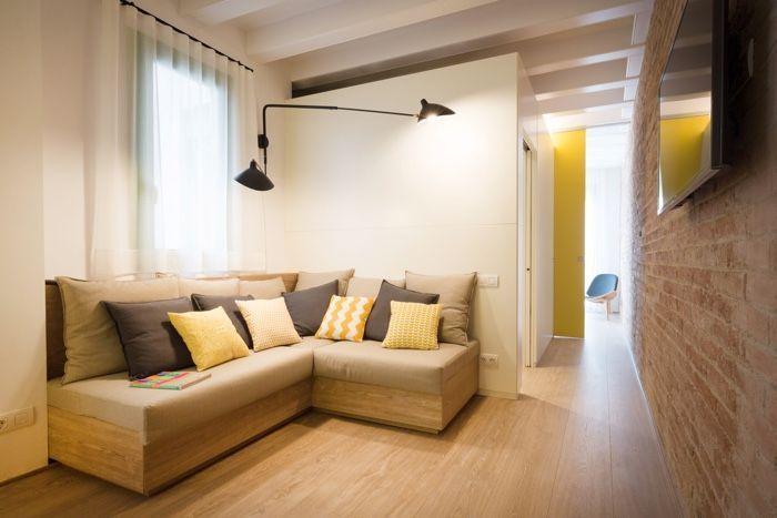 Decoraci n de apartamentos y pisos estrechos distribuci n for Distribucion apartamentos pequenos