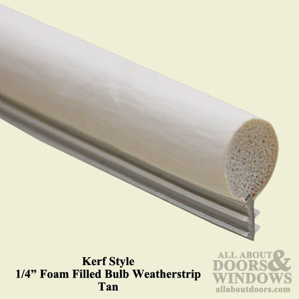 Kerf Style Weatherstrip With 1 4 Inch Foam Filled Bulb