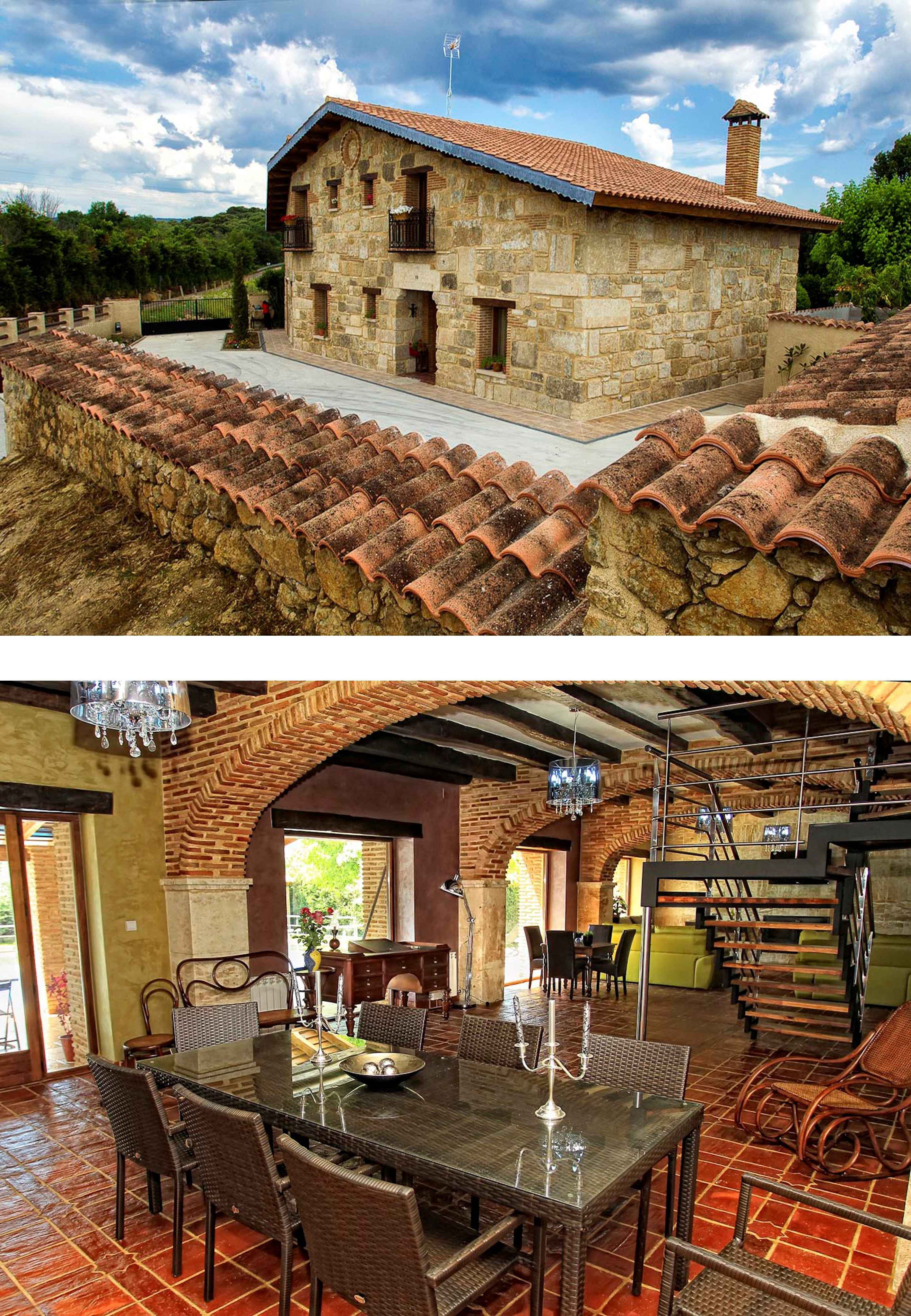 Salamanca Casa Para Fiestas En Ciudad Rodrigo 6 Habitaciones Y Gran Salón Con Chimenea Casas Para Fiestas Estilo En El Hogar Casas Grandes
