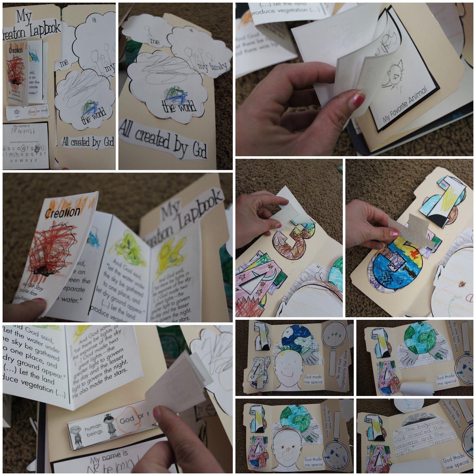 Creation Lapbook | Creation-Flood | Pinterest | Bible, Sunday school ...