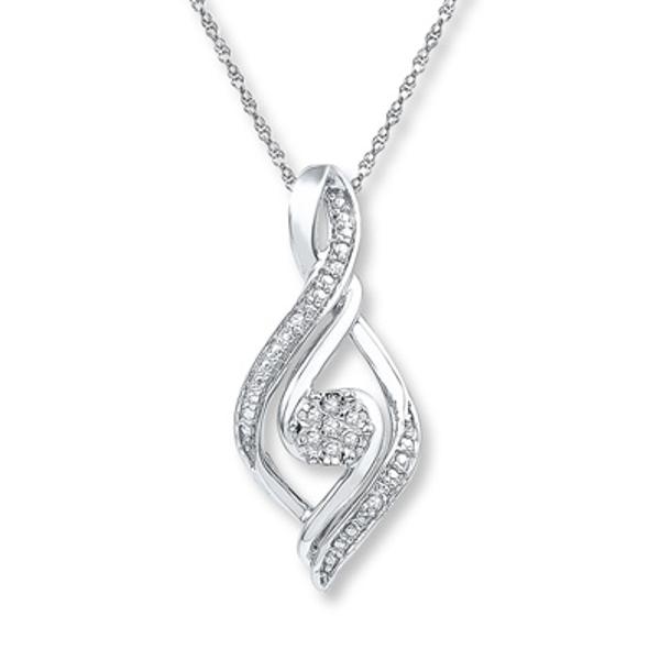 6 Options Sterling Silver Gemstone Infinity Twist Teardrop Necklace
