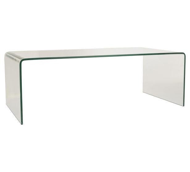 Verve Rectangular Clear Coffee Table Colour Clear Size L 120cm x D