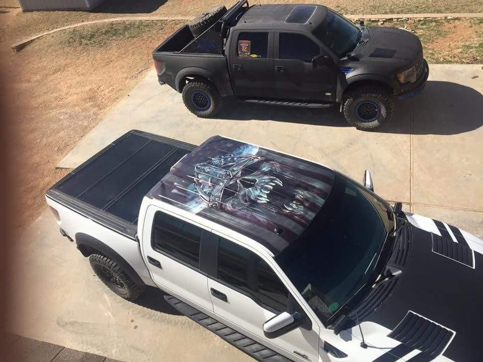 Custom 3m Printed And Laminated Roof Wraps Rappygraphics Com Ford Raptor Ford Rapter 2014 Ford Raptor