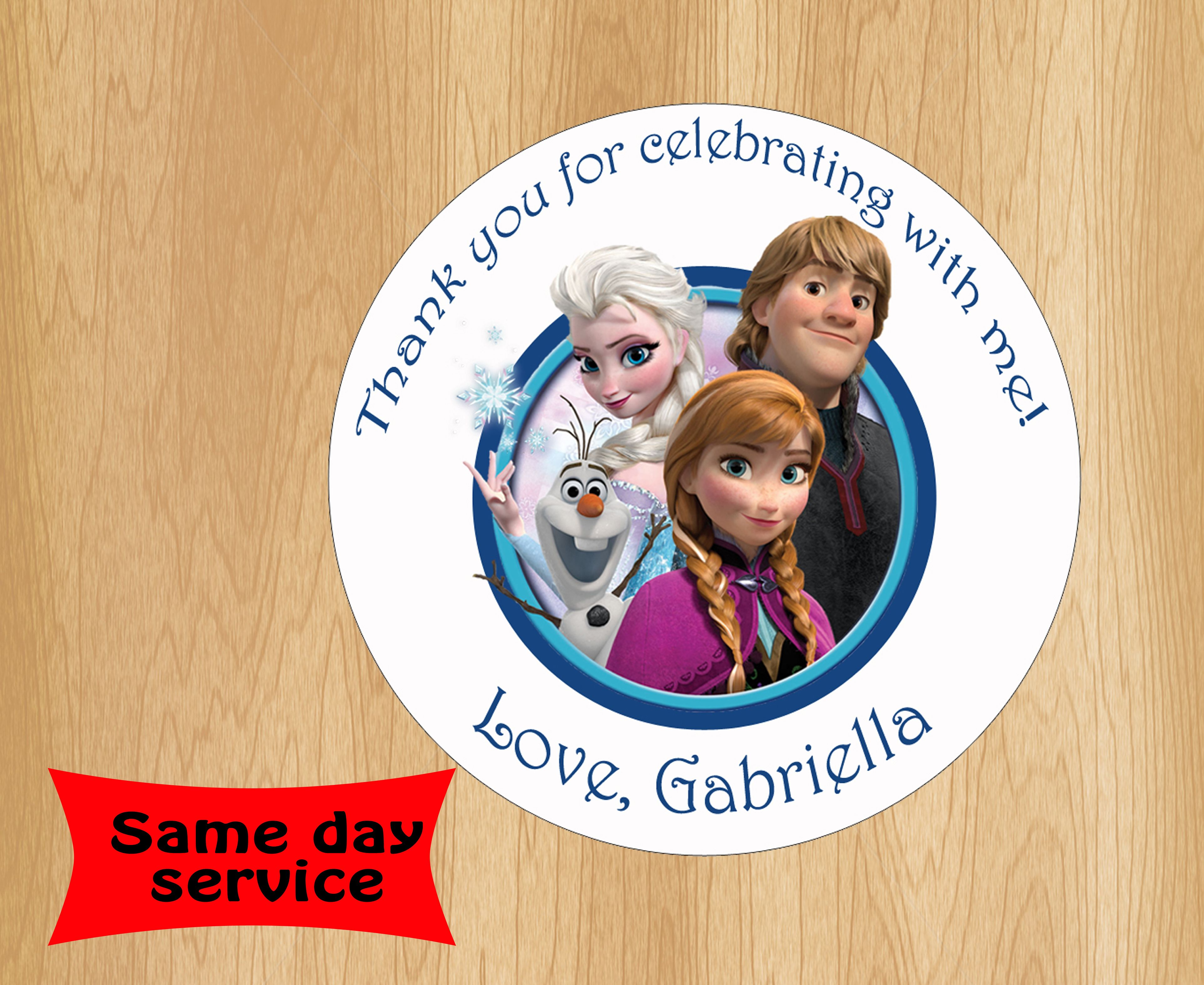 Frozen Movie Birthday Gift Tags   Disney Frozen Movie Birthday ...