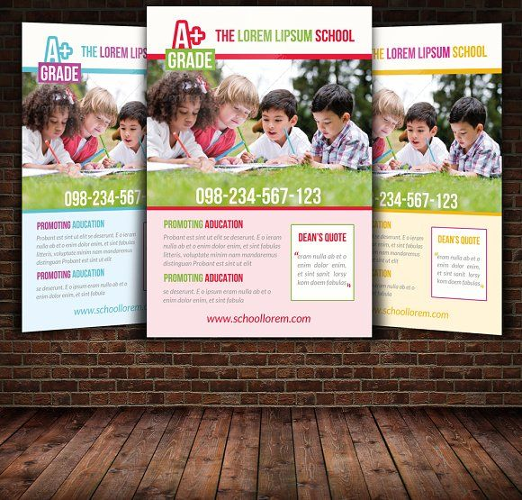 School Education Flyer Template By Psd Templates On Creativemarket