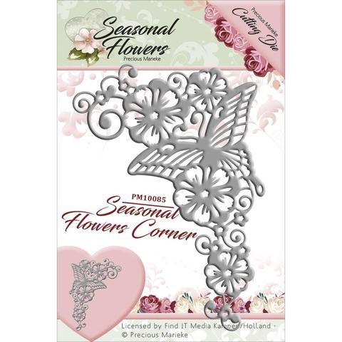 Butterflies Border Precious Marieke Dies Seasonal Flowers Card Stand Frame