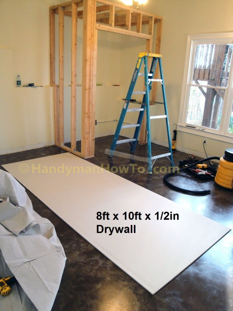Basement Closet Drywall Installation 10 Foot Drywall Sheet Drywall Installation Building A Basement Build A Closet