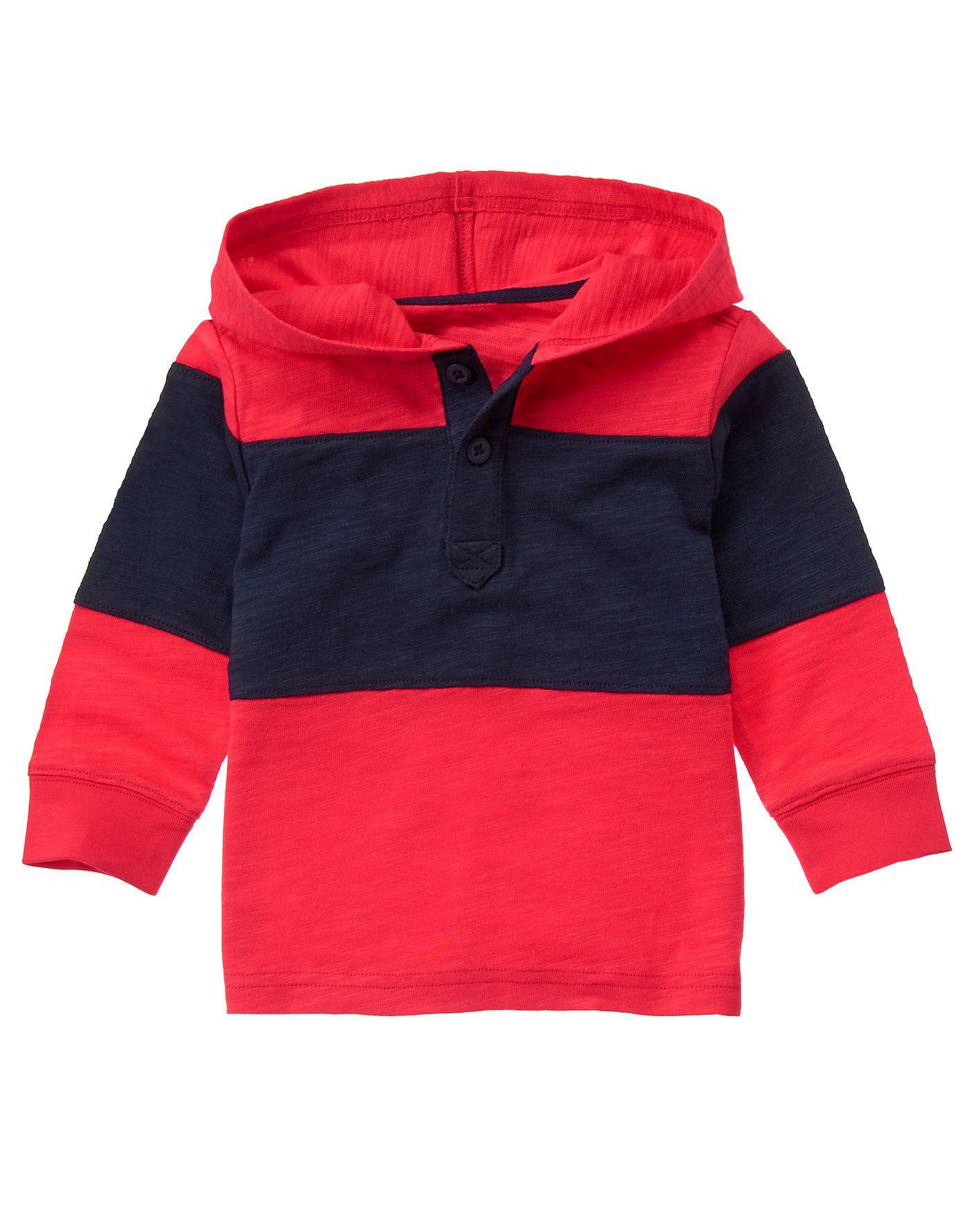 Gymboree Boys Pieced Pullover Hoodie