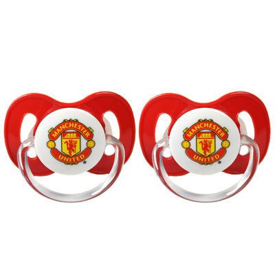 Manchester United Football Club Crest Baby Soother Dummies