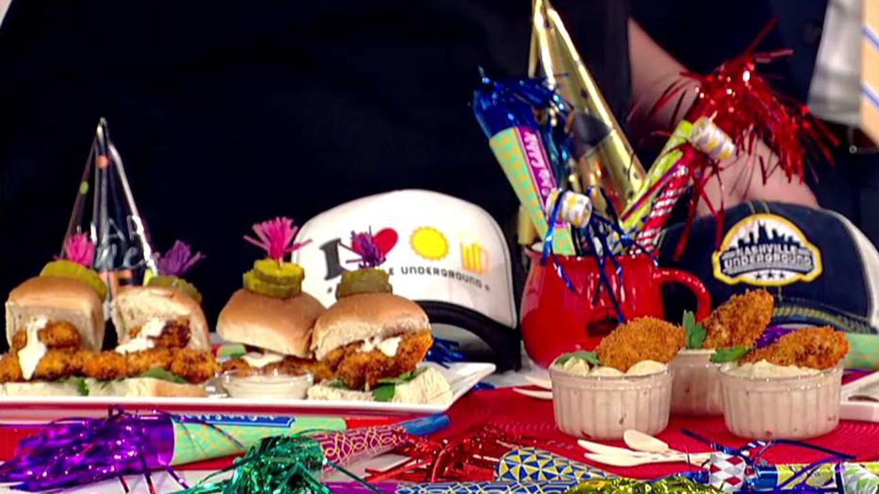 Nashvillethemed appetizers for New Year's Eve from chef