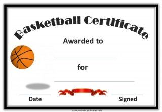 Basketball certificates must read pinterest certificate a variety of printable basketball award certificates are here as season gifts and rewards for your players yelopaper Gallery