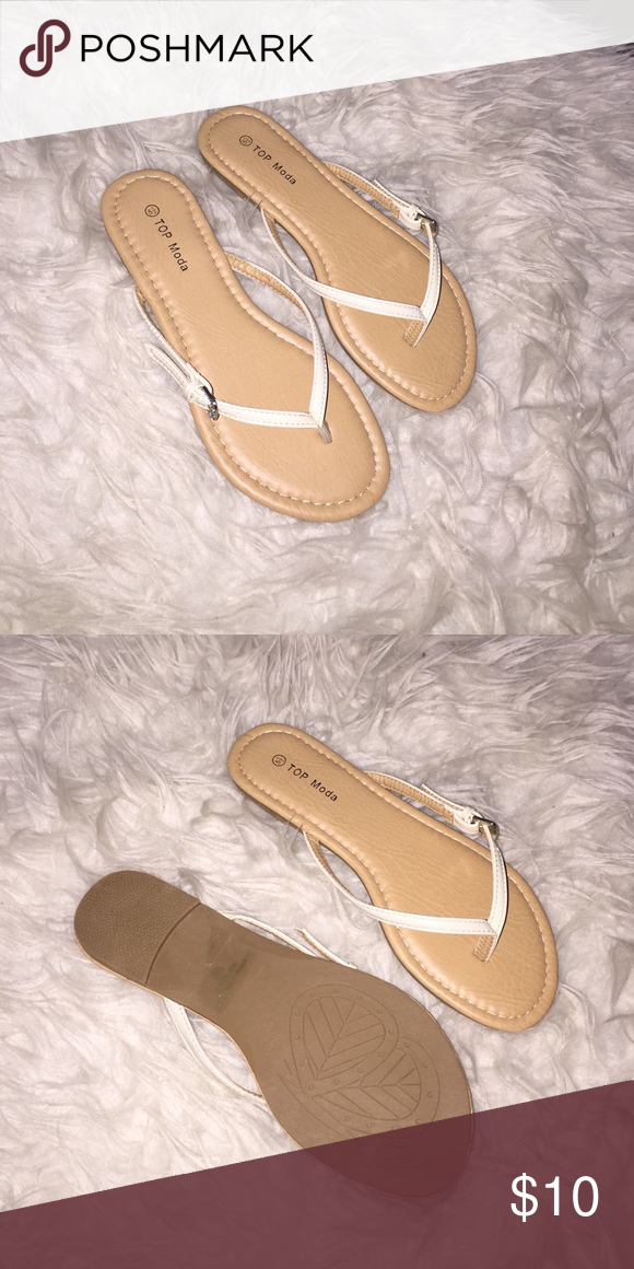 Beige Flip flops sandals Brandnew in Box color Beige different sizes availableNo trades price firm Shoes Sandals