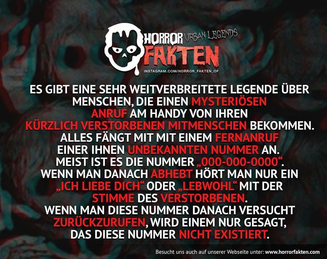 Der unbekannte Anrufer #horror #fakten #horrorfakten ...