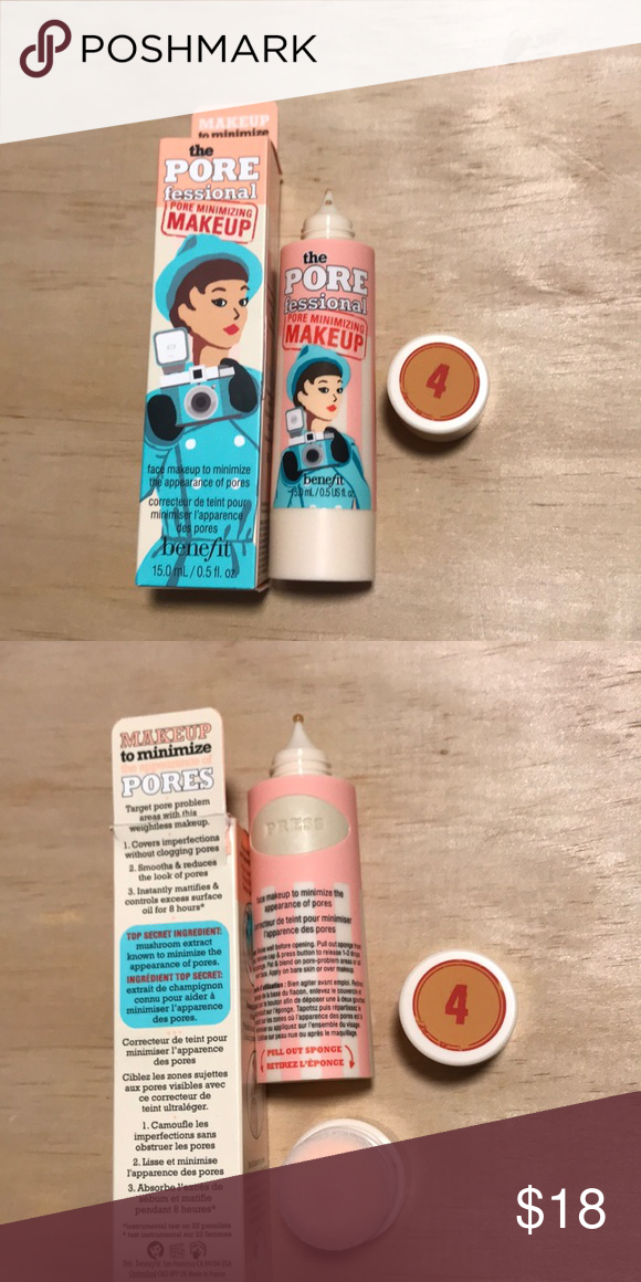 Benefit Porefessional Pore Minimizing Makeup 4 Unused Authentic