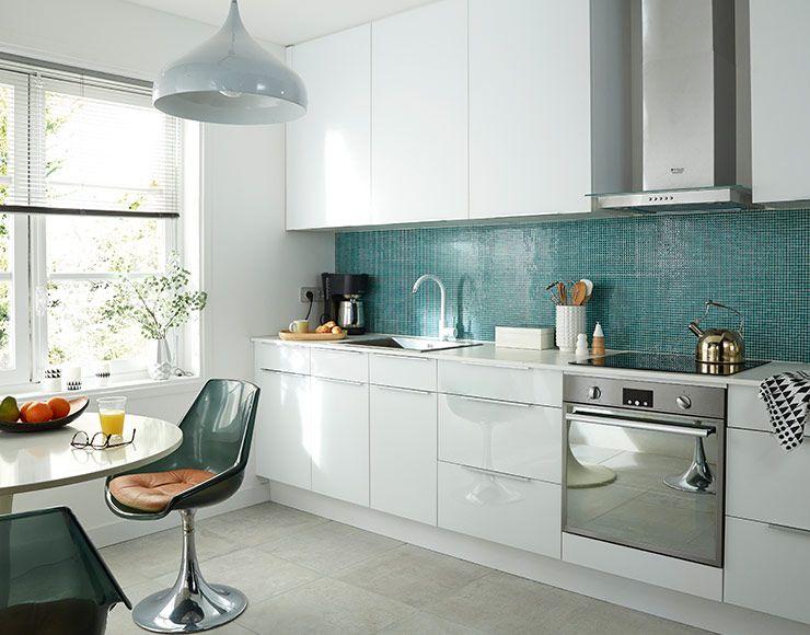 castorama cuisine artic blanc brillant une cuisine. Black Bedroom Furniture Sets. Home Design Ideas