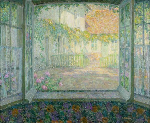 Courtyard from a Window - Henri Le Sidaner, 1904-1910