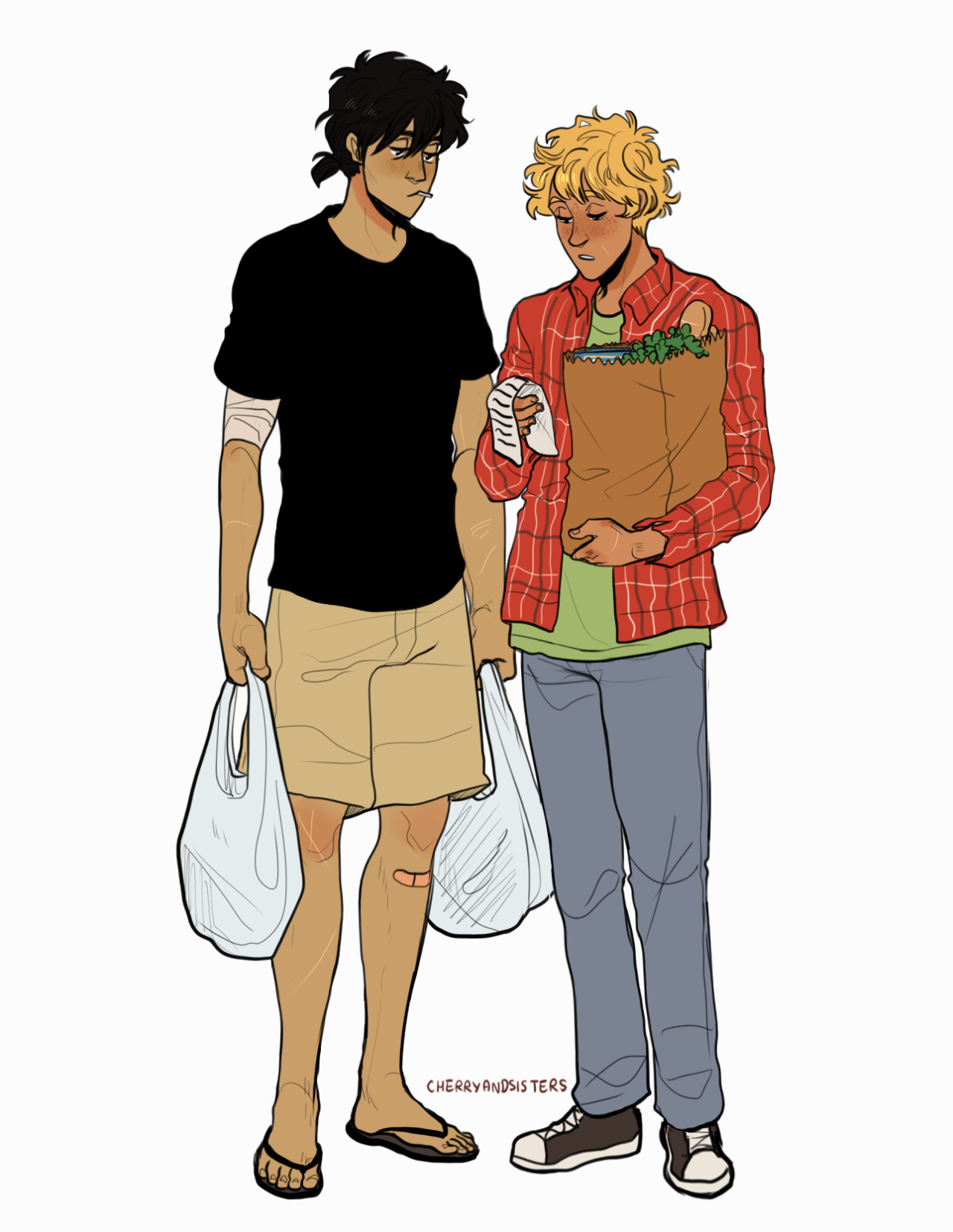 nico and will doing simple domestic stuff like shopping for groceries just. gives me joy