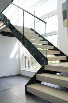 Steel Structure Modern Stair Gallery With Solid Timber Treads And   Steel And Timber Stairs   90 Degree External   Architectural   Modern   Contemporary   House