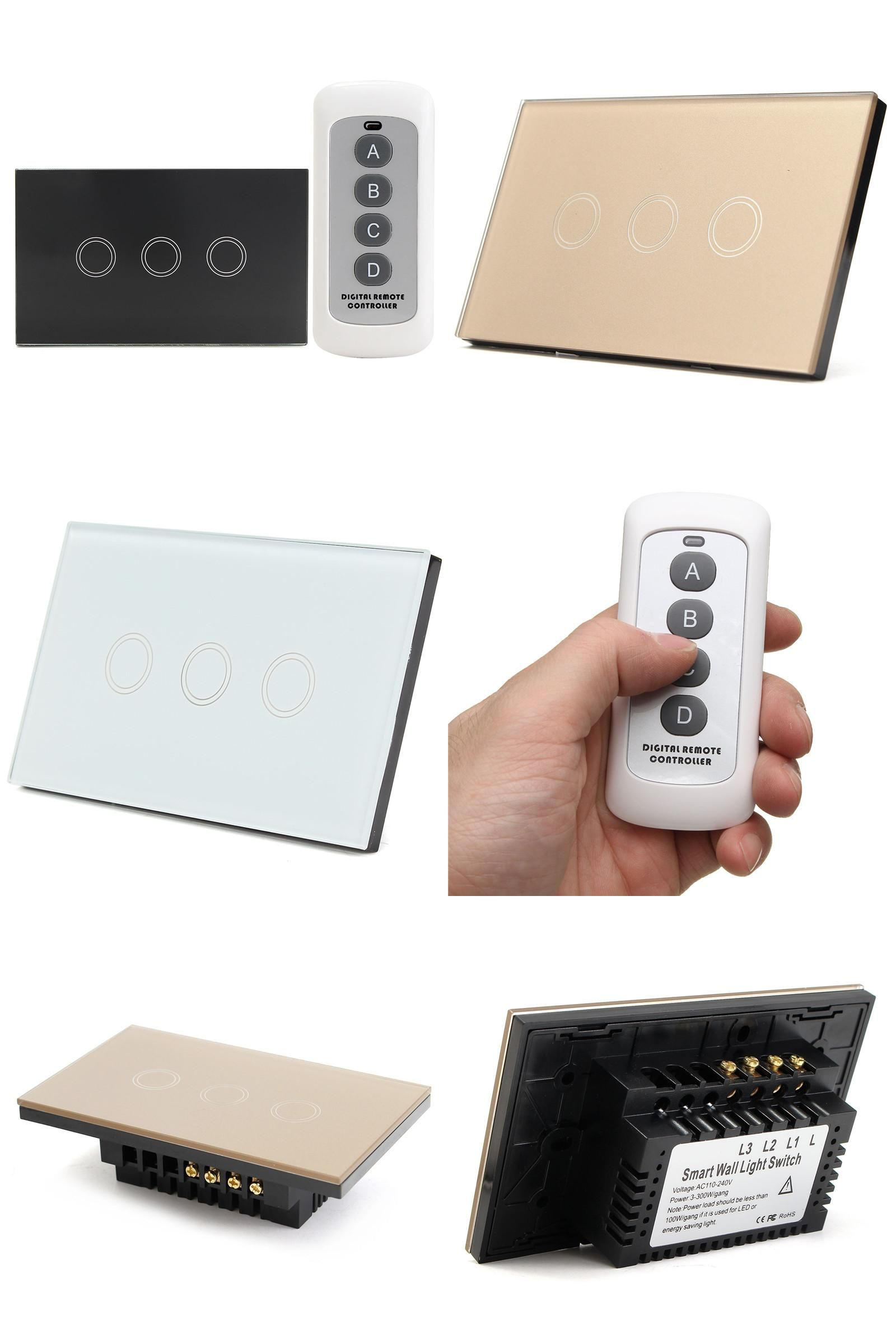 Visit To Buy Us Standard 3 Gang Way Remote Control Switch Smart Light