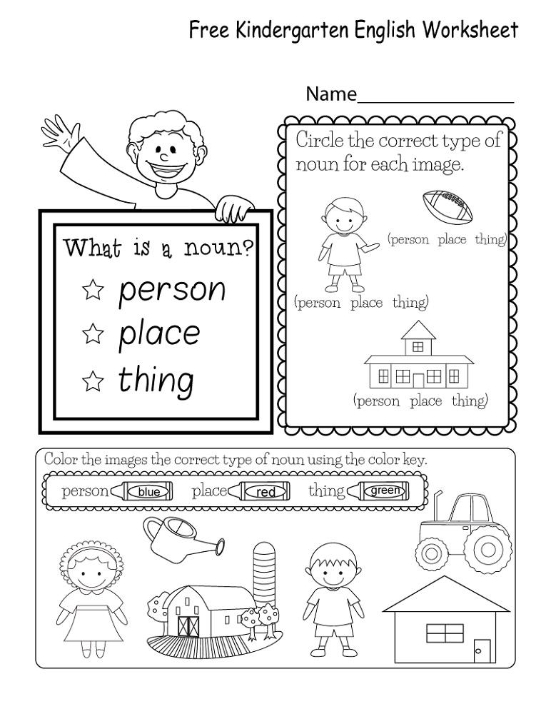 Free Kindergarten English Worksheets Kindergarten English English Worksheets For Kindergarten Printable English Worksheets