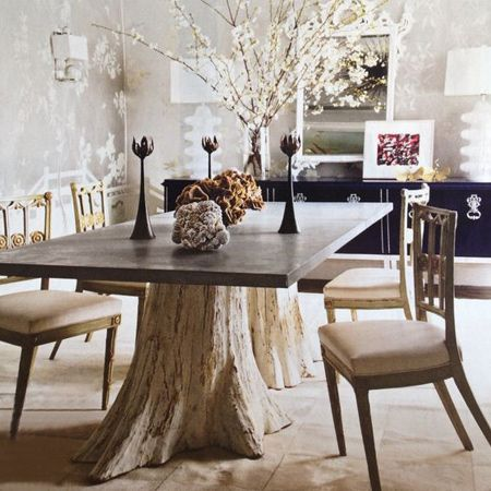 Sillas Home Dining Room Table Tree Trunk Table