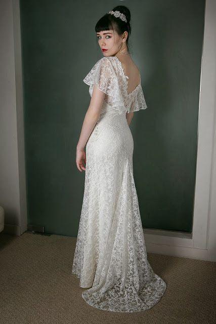 1930s Vintage Wedding Dress Angel C Heavenly Vintage Brides