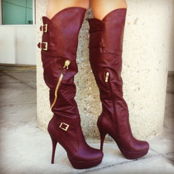 Wine colored Boots