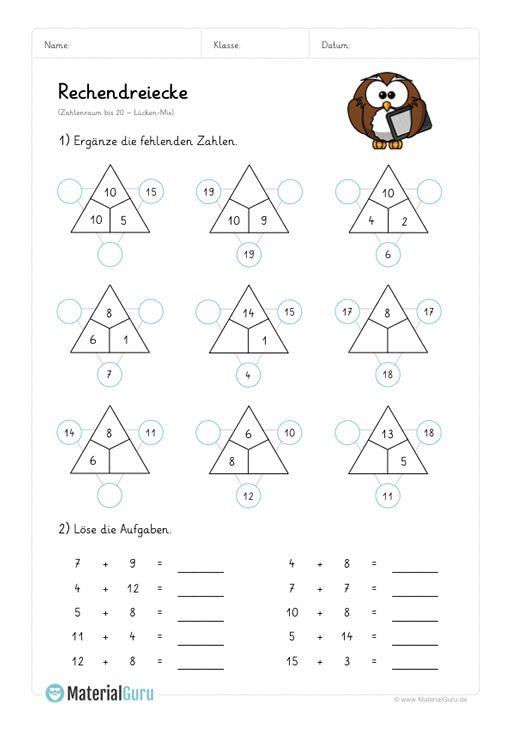 neu ein kostenloses mathe arbeitsblatt zum thema rechendreiecke f r die grundschule auf dem. Black Bedroom Furniture Sets. Home Design Ideas