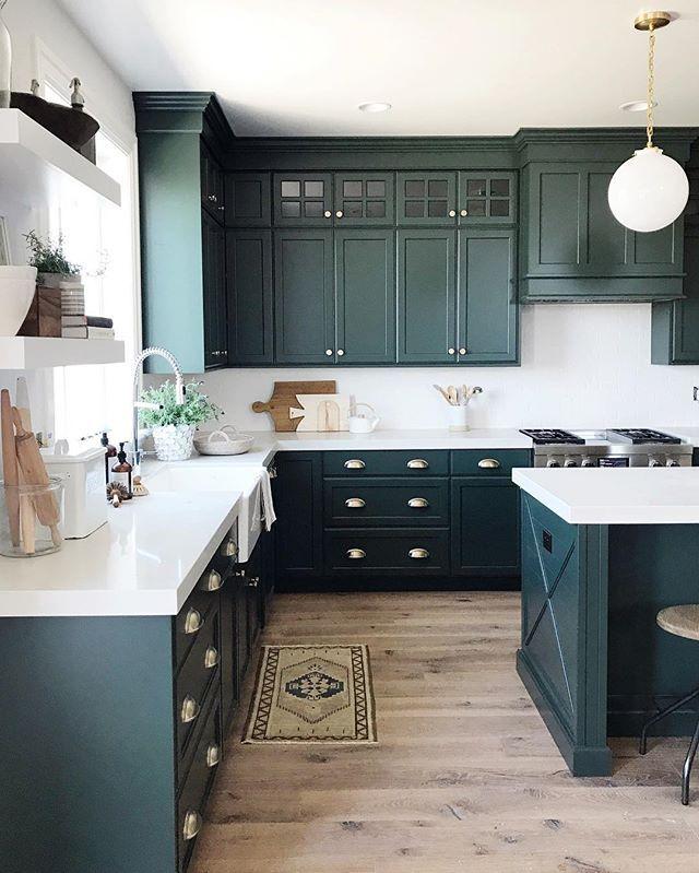 Denver Tudor Reveal Green Kitchen Cabinets Kitchen Cabinet
