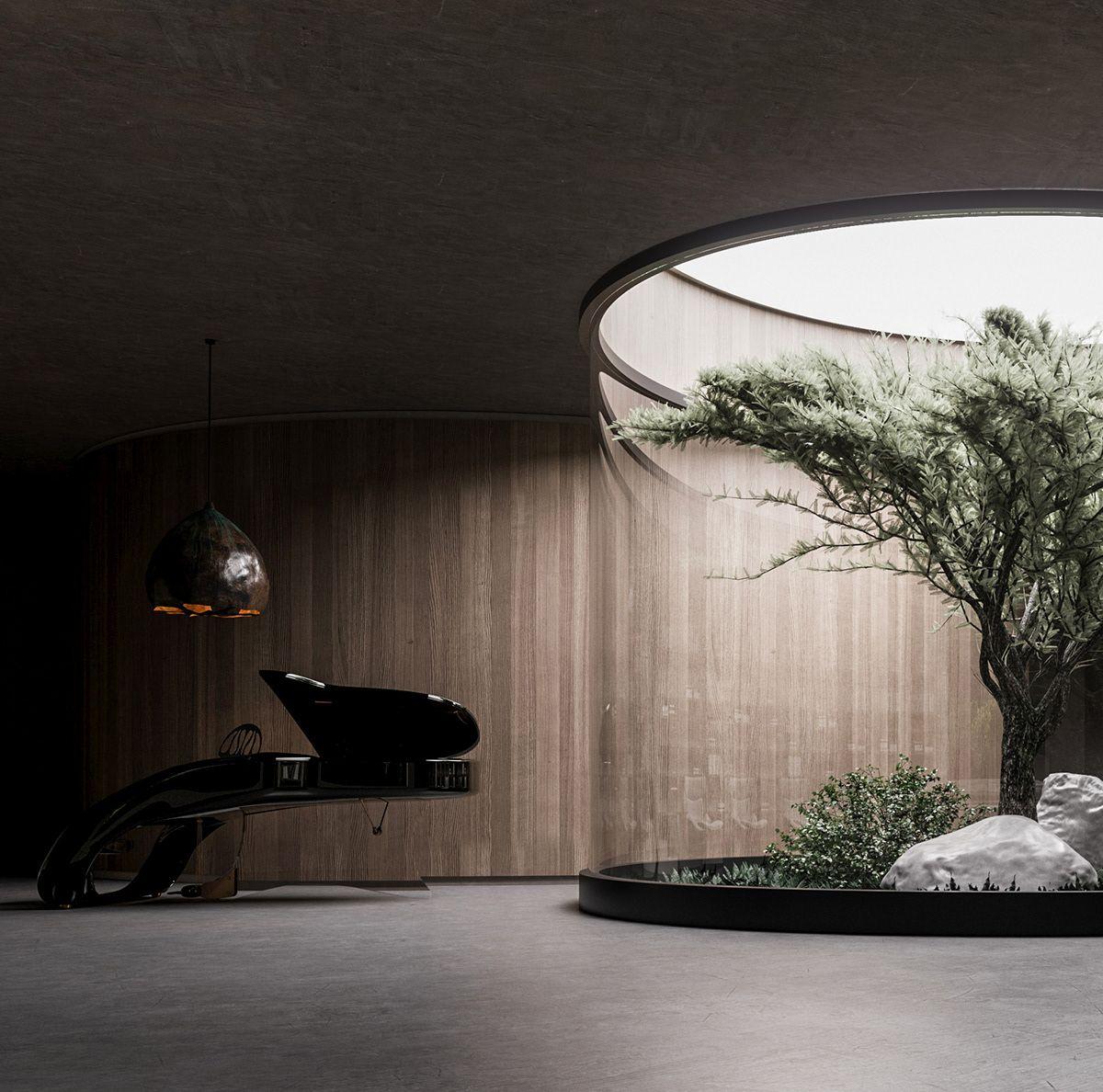 Underground House Plan B On Behance Underground Homes Underground House Plans Bunker Home