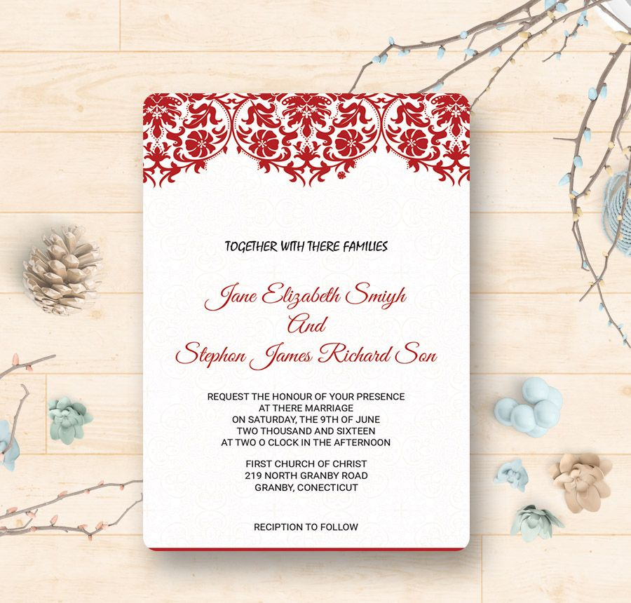 9 Free Wedding Invitation Templates Traditional Modern