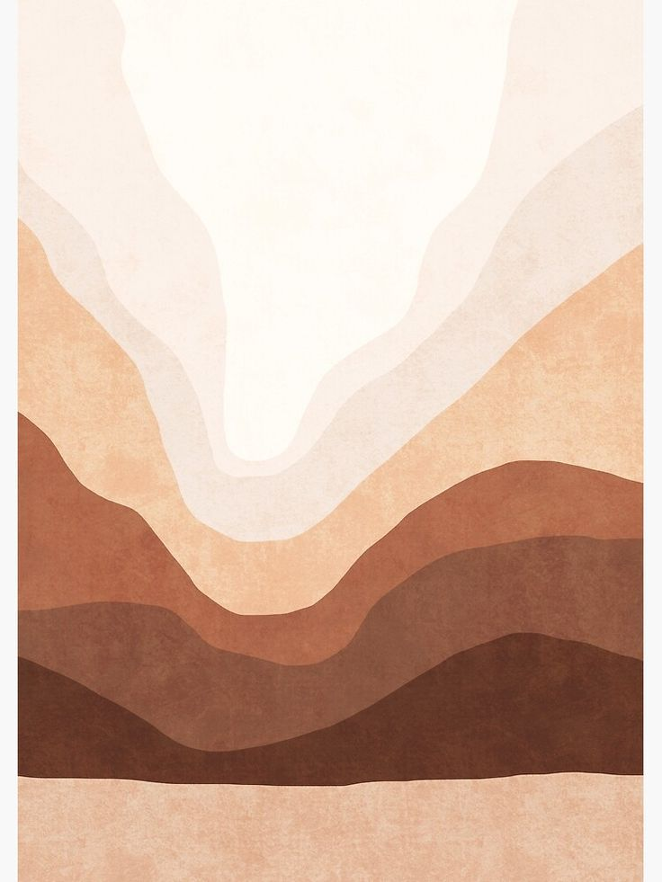 'Ombre neutral mountain landscape' Poster by Miss-Belle