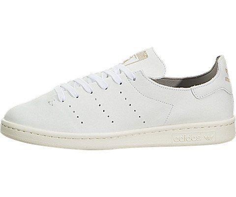 Adidas Stan Smith para hombre en cuero calcetín blanco / granito, comfmart