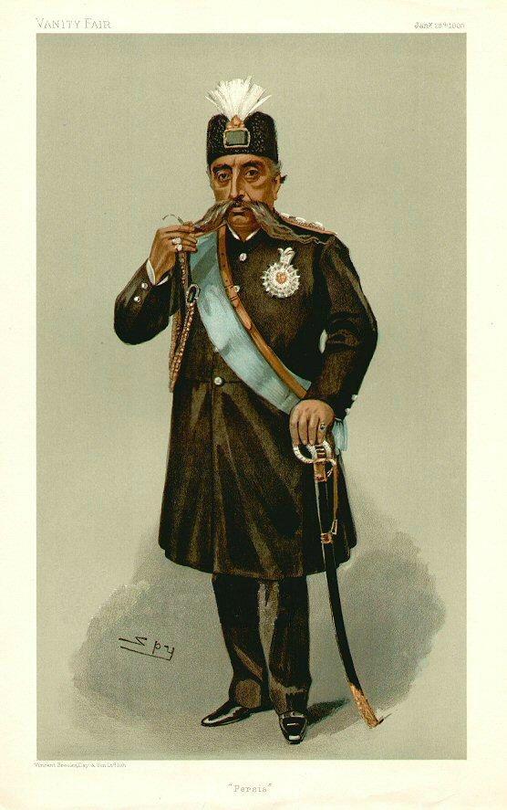 Mozaffar ad-Din Shah Qajar, Vanity Fair, 1903-01-29 - Leslie Ward - Wikipedia, the free encyclopedia