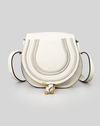Marcie Small Satchel Bag, Off White by Chloe at Neiman Marcus.