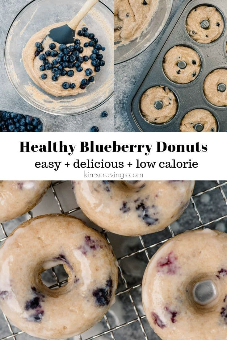 Baked blueberry donuts are light, soft, and perfect for breakfast!