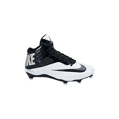 huge discount 9e274 253da Amazon.com  Men s Nike Lunar Code Pro 3 4 Detachable Football Cleat  Black White  Shoes