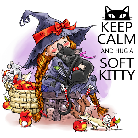 Soft Kitty Digital stamps, Kitty, Cute characters