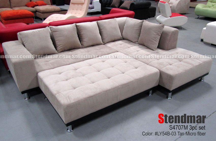 Welcome To Stendmar Com New Modern Tan Microfiber Sectional Sofa W
