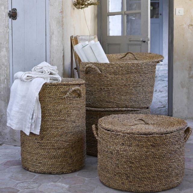 panier rond avec couvercle en jacinthe d 39 eau liane am pm salle de bain pinterest creepers. Black Bedroom Furniture Sets. Home Design Ideas